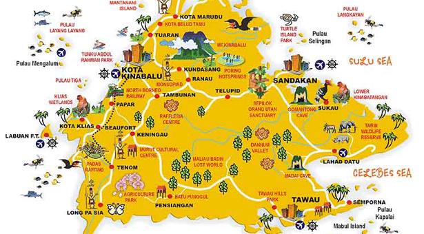 Sabah Destination Map