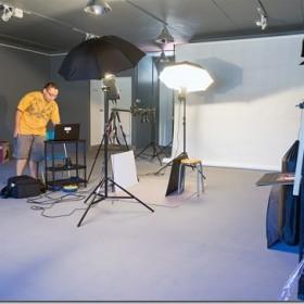 Flanegan Bainon in his studio, BAH! Photo Visual. Photo courtesy of Flanegan